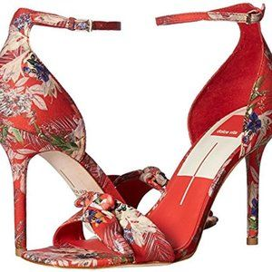 Helana Heels in Red Floral by Dolce Vita